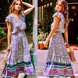 NWOT Spell & The Gypsy Dahlia Midi Dress